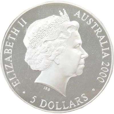 1 oz 2000 Sydney Olympics Reaching the World 2 Silver Coin (Ex Set)