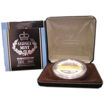 1855 - 2005 Australia Sydney Mint Sesquicentenary Ten Dollar Bi-Metal Proof Coin