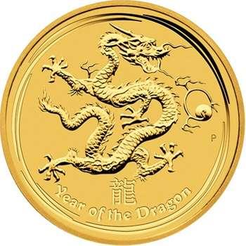 1 oz 2012 Australian Lunar Year of the Dragon Gold Bullion Coin