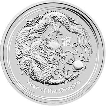 10 oz 2012 Australian Lunar Year of the Dragon Silver Bullion Coin
