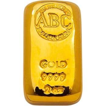 2 oz ABC Gold Bullion Cast Bar