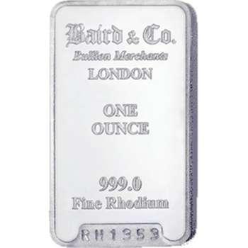 1 oz Baird & Co Rhodium Bullion Minted Bar