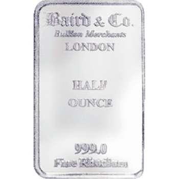 1/2 oz Baird & Co Minted Rhodium Bullion Bar