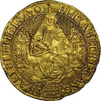 1558-1603 Great Britain Queen Elizabeth I Sovereign Gold Coin