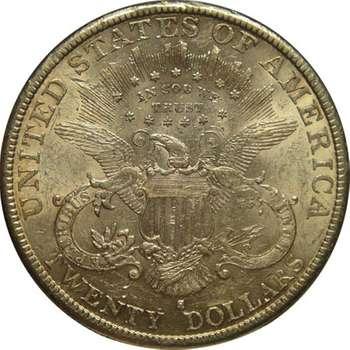 1893 S USA Liberty Head Twenty Dollars Gold Coin