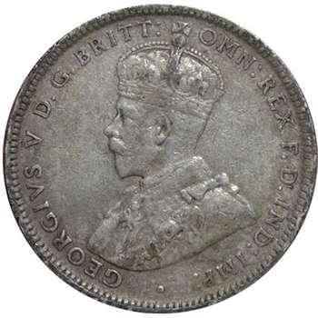 1920 M Australia King George V Shilling Silver Coin