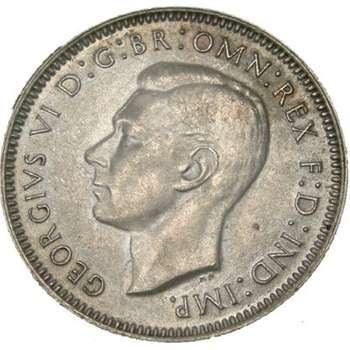 1941 Australia King George VI Shilling Silver Coin