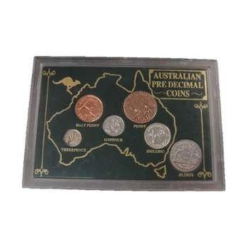 Australian Predecimal Coins Cased Set