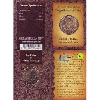 2008 S Australia Original Coat of Arms One Dollar Uncirculated