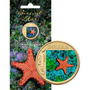 2007 Australia Ocean Series Biscuit Star One Dollar Uncirculated