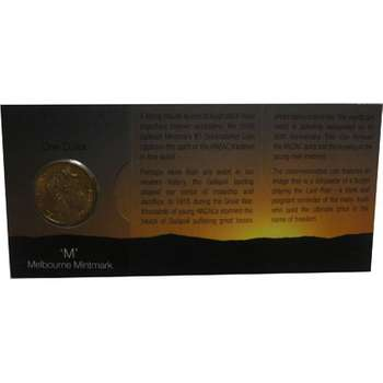 1915-2005 M Australia Gallipoli One Dollar Coin