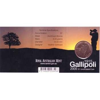 1915-2005 B Australia Gallipoli One Dollar Coin