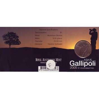1915-2005 G Australia Gallipoli One Dollar Coin