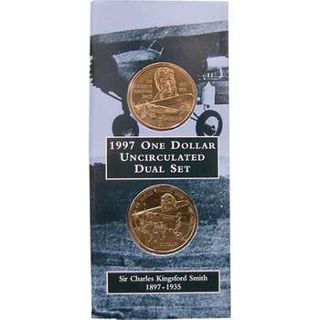1897-1997 Sir Charles Kingsford Smith One Dollar Dual Set