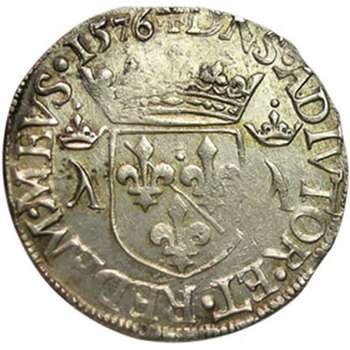 1576 France Louis II Teston