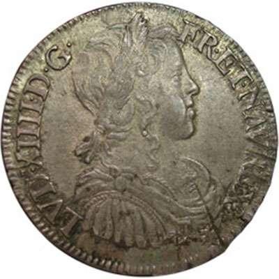 1656 France Louis XIV 1/2 Ecu