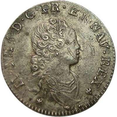 1716 France Paris Louis XV 1/10 Ecu