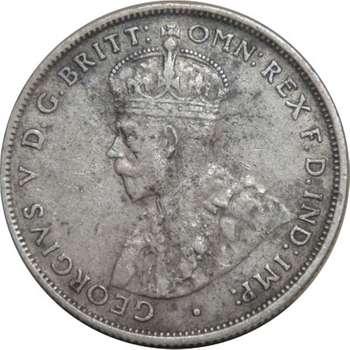 1928 Australia King George V Florin Silver Coin