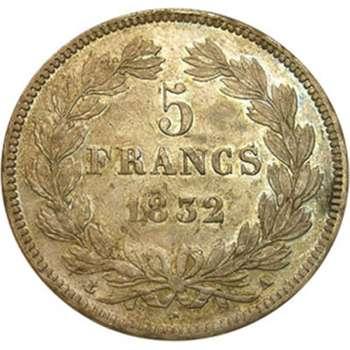 1832 A France Louis Philippe I 5 Franc