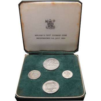 1964 Malawi's First Coinage Issue Four Coisn Set