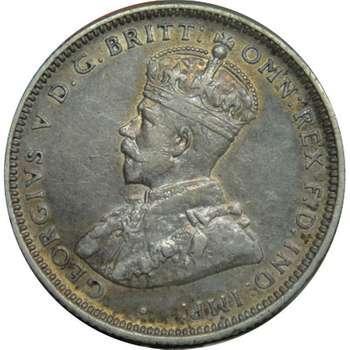 1916 M Australia King George V Shilling Silver Coin