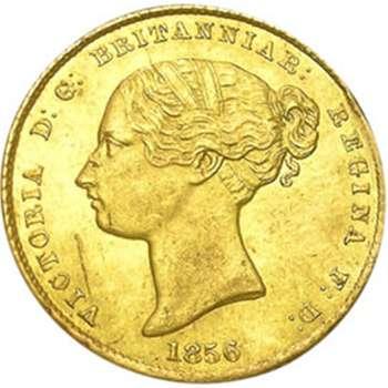 1856 Australia Sydney Mint Type I Half Sovereign Gold Coin