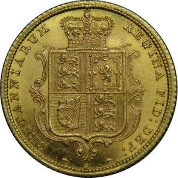 1883 S Australia Queen Victoria Young Head Shield Half Sovereign Gold Coin