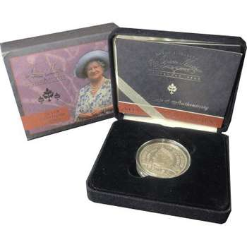 1900-2000 The Queen Mother Centenary Crown Silver Proof Coin