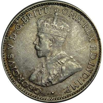 1927 Australia King George V Threepence Silver Coin