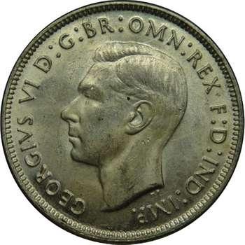 1942 S Australia King George VI Florin Silver Coin