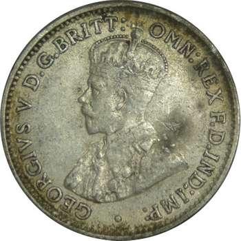 1911 Australia King George V Threepence Silver Coin