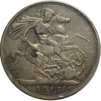 1893 Great Britain Queen Victoria Veil Head Crown Silver Coin
