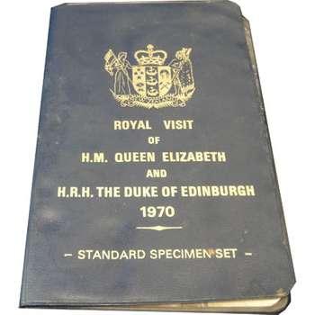 1970 New Zealand Royal Visit Of H.M. Queen Elizabeth And The Duke Of Edinburgh Mint Set