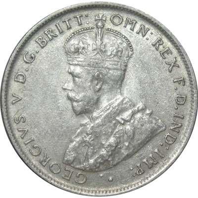 1924 Australia King George V Florin Silver Coin