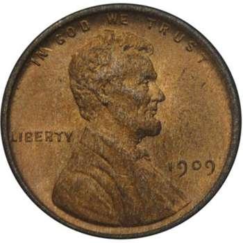 1909 USA VDB Lincoln Cent Bronze Coin