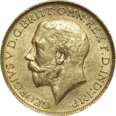1926 M Australia King George V St George Sovereign Gold Coin