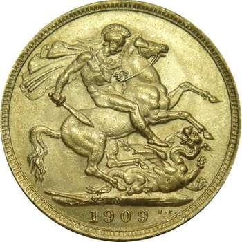 1909 M Australia King Edward VII St George Sovereign Gold Coin