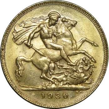 1930 P Australia King George V St George Sovereign Gold Coin