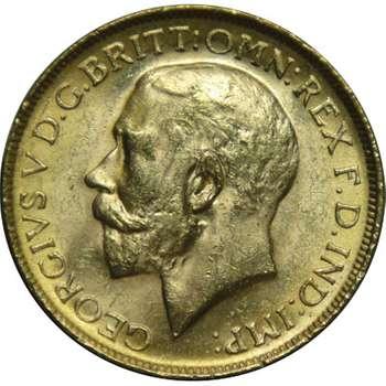 1919 P Australia King George V St George Sovereign Gold Coin