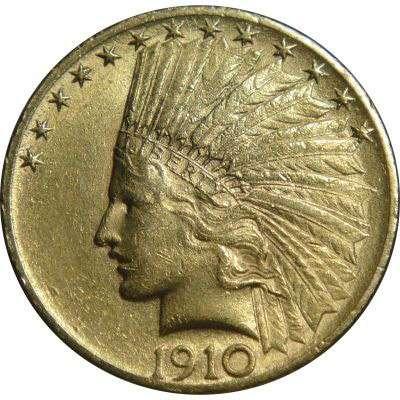 1910 USA Indian Head Ten Dollars Gold Coin