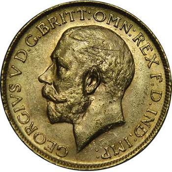 1915 P Australia King George V St George Sovereign Gold Coin