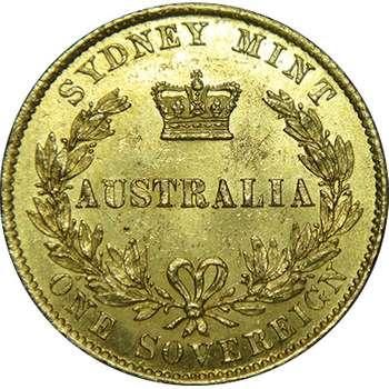 1865 Australia Sydney Mint Type II Queen Victoria Sovereign Gold Coin