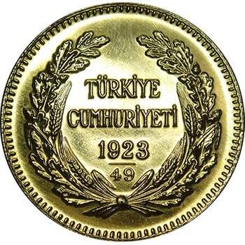 1923/49 Turkey Ataturk 500 Kurush Gold Coin