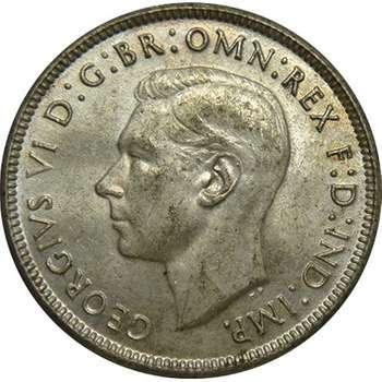 1943 S Australia King George VI Florin Silver Coin