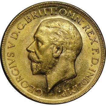 1929 P Australia King George V St George Sovereign Gold Coin