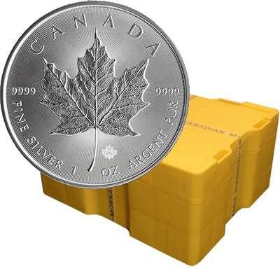 1 oz Canadian Maple Leaf Silver Bullion Coin  - 500 oz Monster Box