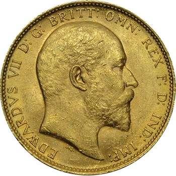 1905 M Australia King Edward VII St George Sovereign Gold Coin