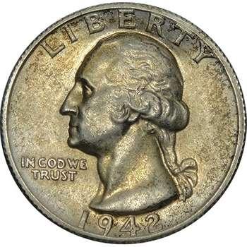 1942 S USA Quarter Dollar Silver Coin