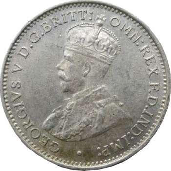 1936 Australia King George V Threepence Silver Coin