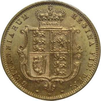 1885 M Australia Queen Victoria Young Head Shield Half Sovereign Gold Coin